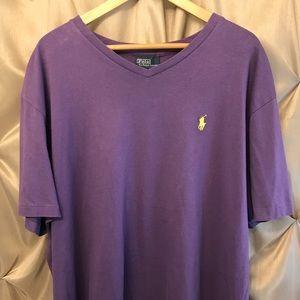 Polo Ralph Lauren Men's XL Purple V-neck EUC
